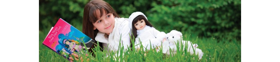 The Maru and Friends® dolls have unique facial features
