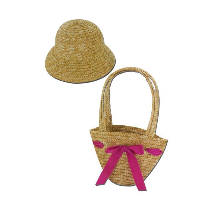 Straw hat and basket.